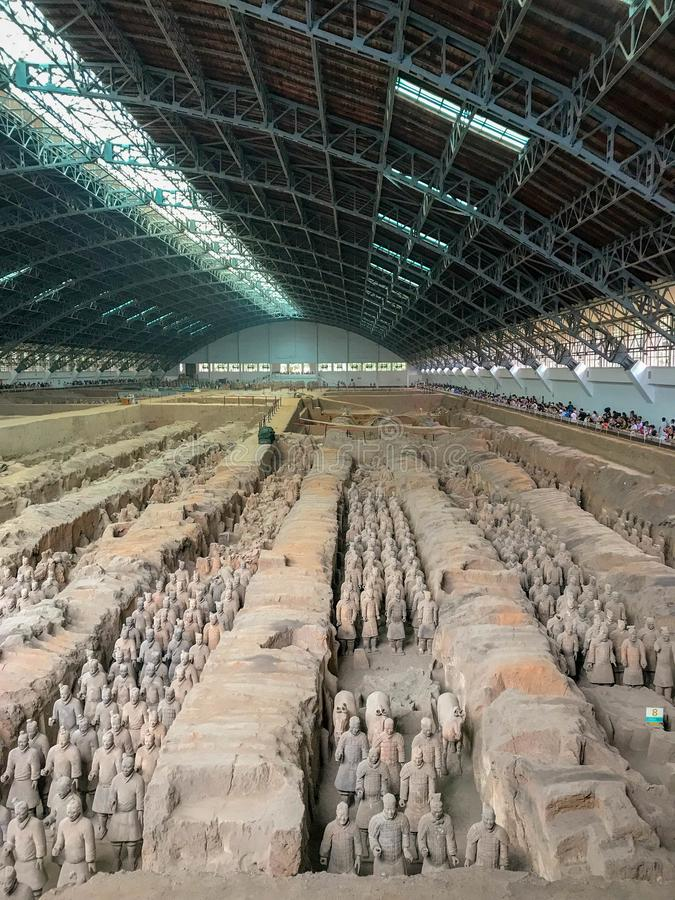 Die Terrakotta-Armee, Xi'an, China lizenzfreie stockfotos