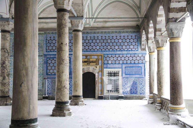 Die Topkapı-Platz-Museums-Türkei-Winter 2016 lizenzfreie stockfotos