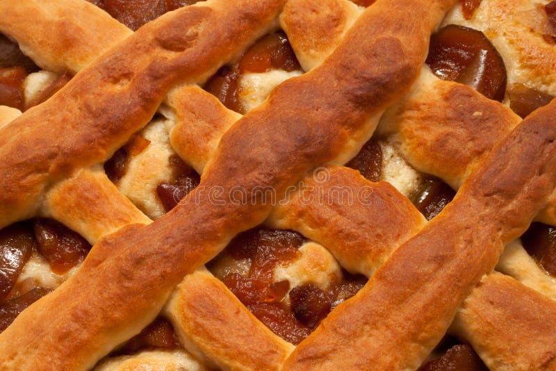 Die Torte mit kandierten Birnen lizenzfreies stockbild