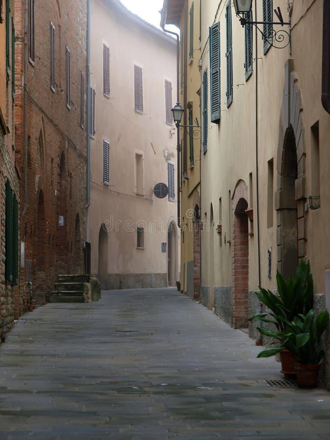 Die toskanische Stadt stockfotos