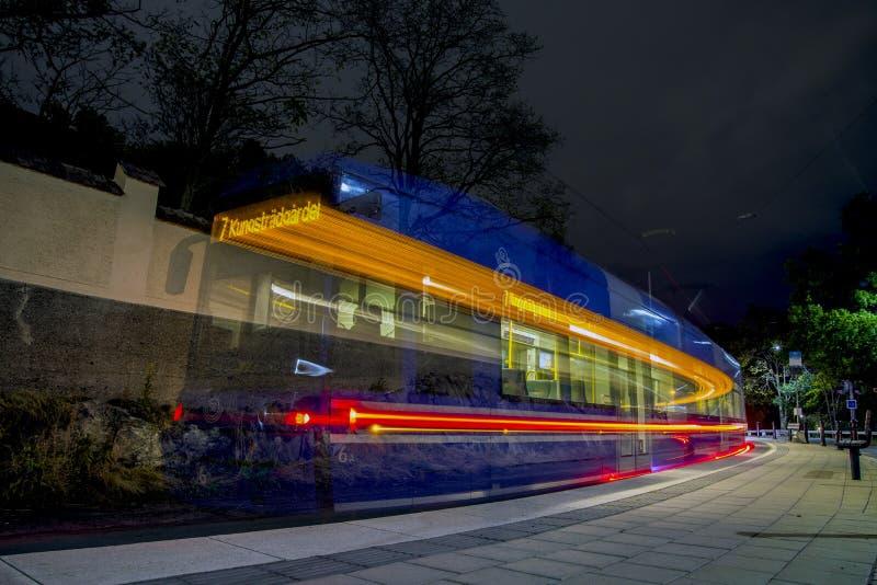 Die Tram wird gegangen lizenzfreie stockbilder