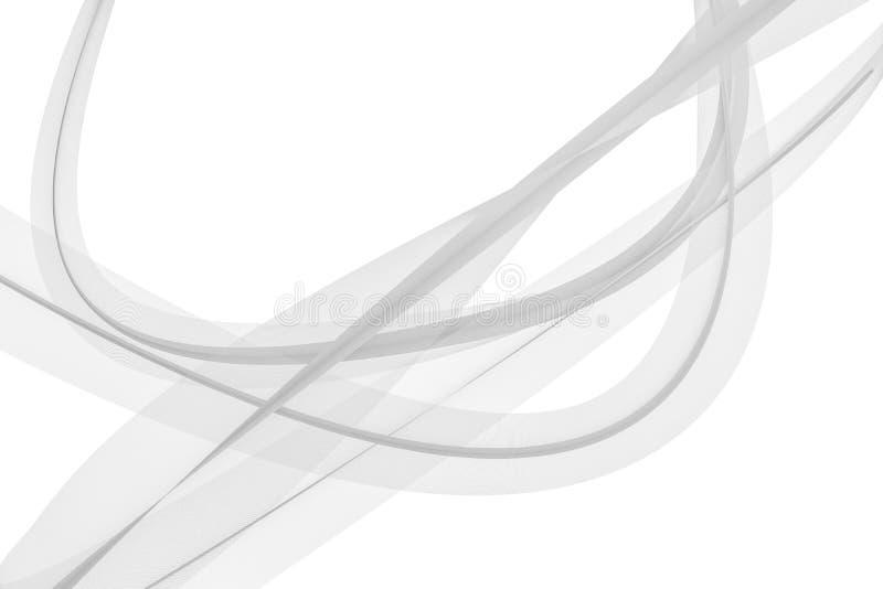 Die transparenten wellenartig bewegenden Linien, Elementhintergründe, Wiedergabe 3d lizenzfreie abbildung