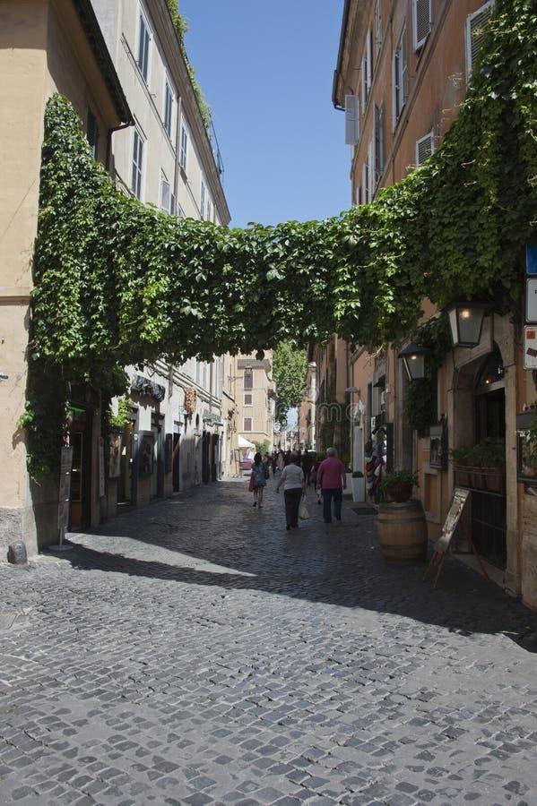 Die Trastevere-Nachbarschaft stockfoto
