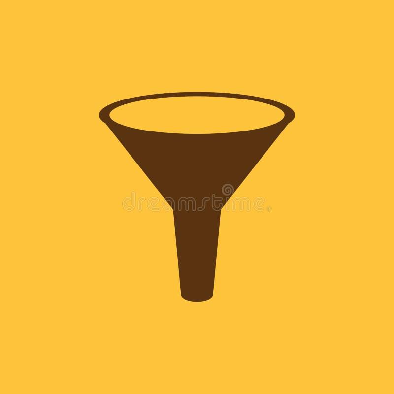 Die Trichterikone Gefiltert und Filter, Labor, Chemiesymbol flach vektor abbildung