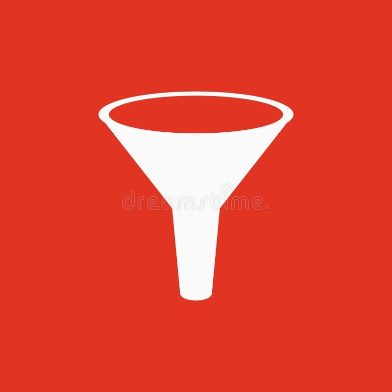 Die Trichterikone Gefiltert und Filter, Labor, Chemiesymbol flach lizenzfreie abbildung