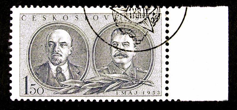 Die Tschechoslowakei-Briefmarke lizenzfreie stockfotografie