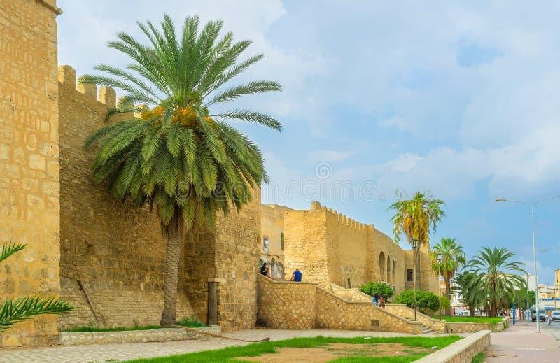 Die tunesische Stadt stockbild