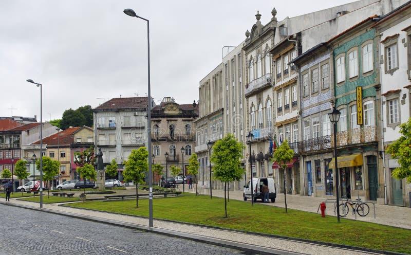 Die typische alte bunte Wohnung Braga, Portugal stockbilder