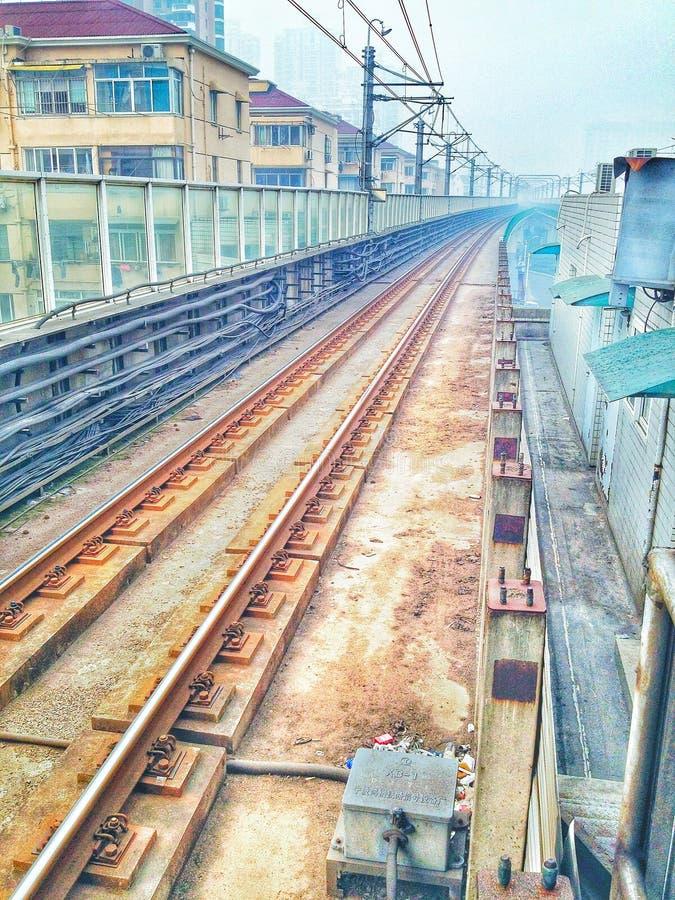 Die U-Bahn-Linie 3 von Shanghai stockbild