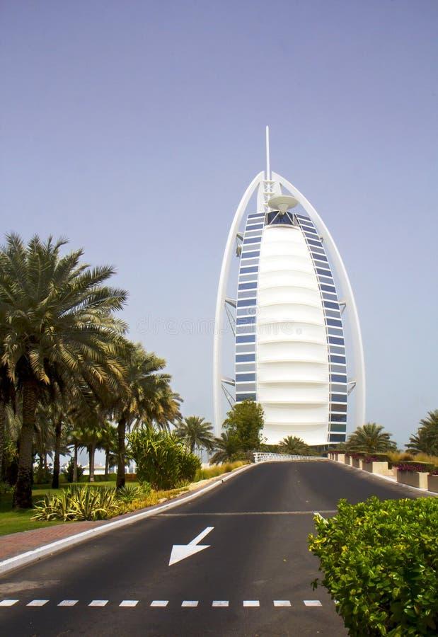 Die UAE Hotel Burj Al-Araber stockfotografie