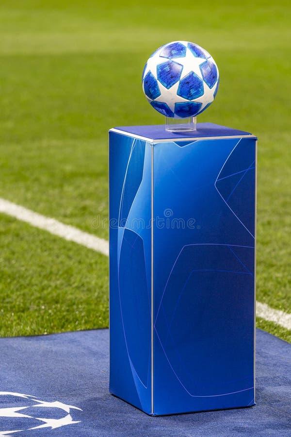 Die UEFA verficht Punktspiel an Luzhniki-Stadion, CSKA - Real Madrid lizenzfreie stockfotos