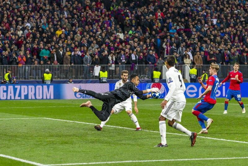 Die UEFA verficht Punktspiel an Luzhniki-Stadion, CSKA - Real Madrid stockfotografie