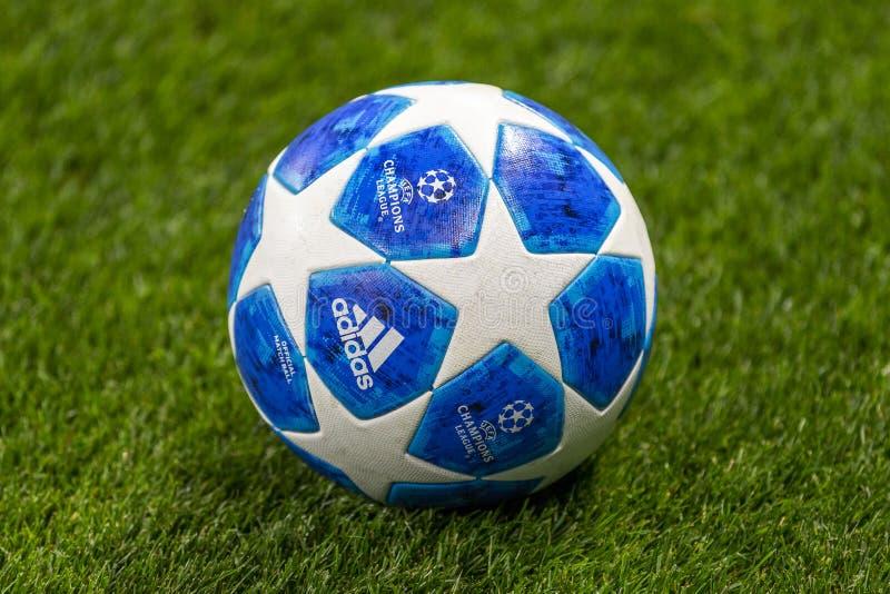 Die UEFA verficht Punktspiel an Luzhniki-Stadion, CSKA - Real Madrid lizenzfreie stockbilder
