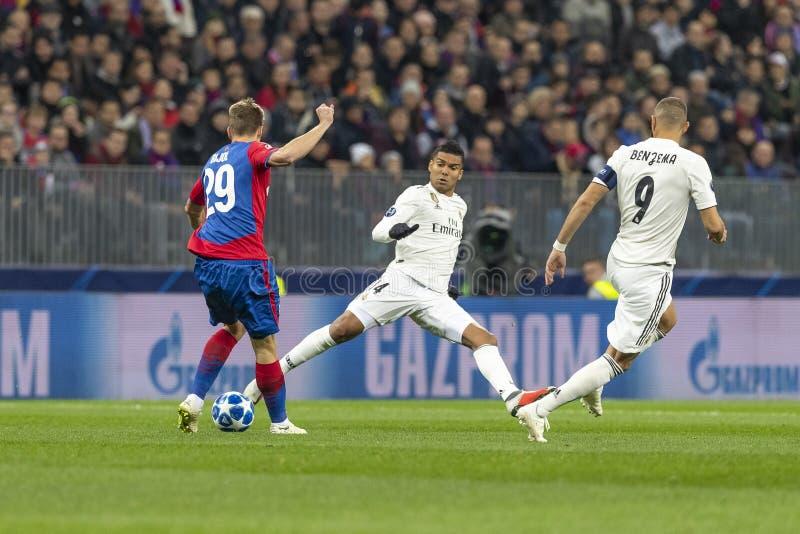 Die UEFA verficht Punktspiel an Luzhniki-Stadion, CSKA - Real Madrid stockfoto