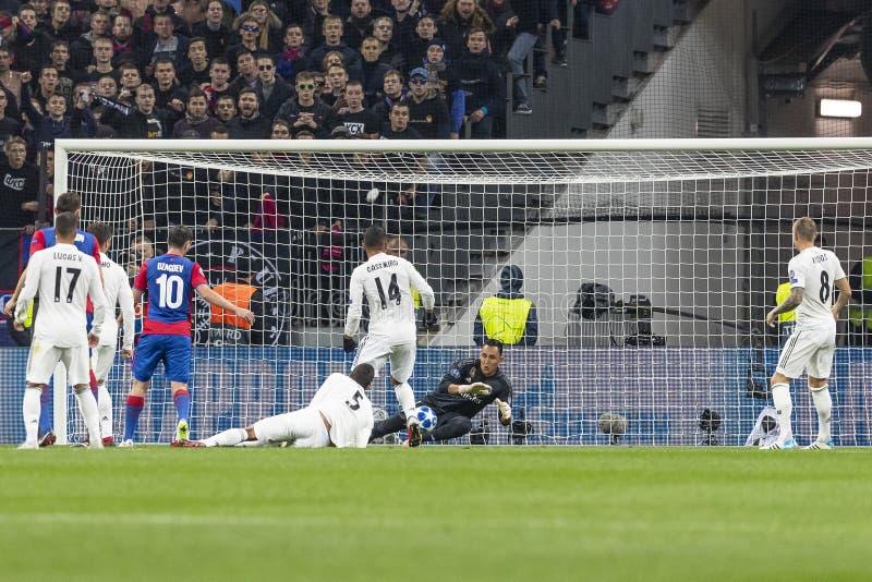 Die UEFA verficht Punktspiel an Luzhniki-Stadion, CSKA - Real Madrid stockfotos