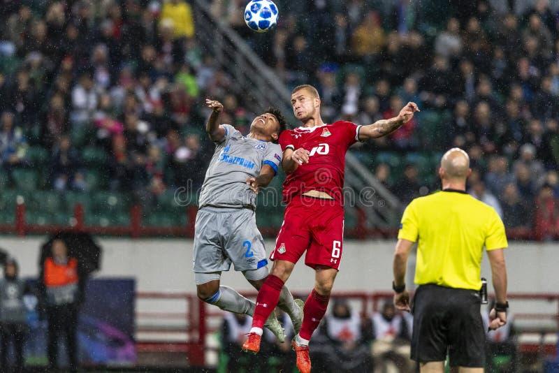 """Die UEFA verficht Punktspiel an Stadion """"RZD ARENAÂ"""", Lokomotiv - Schalke 04 stockfoto"""
