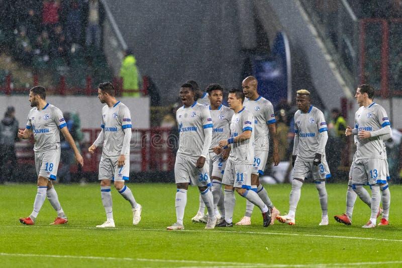 """Die UEFA verficht Punktspiel an Stadion """"RZD ARENAÂ"""", Lokomotiv - Schalke 04 stockfotografie"""