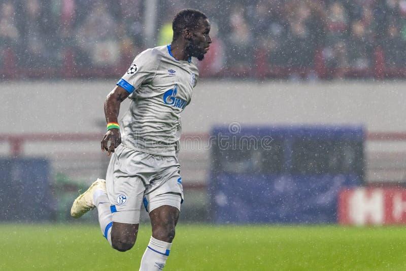 """Die UEFA verficht Punktspiel an Stadion """"RZD ARENAÂ"""", Lokomotiv - Schalke 04 lizenzfreie stockfotografie"""