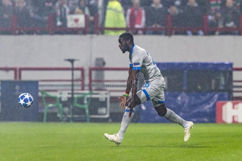 """Die UEFA verficht Punktspiel an Stadion """"RZD ARENAÂ"""", Lokomotiv - Schalke 04 stockbilder"""