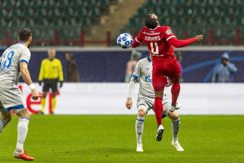 """Die UEFA verficht Punktspiel an Stadion """"RZD ARENAÂ"""", Lokomotiv - Schalke 04 stockbild"""