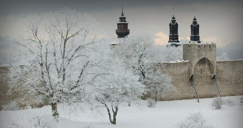 Die UNESCO-Welterbestätte Visby.GN lizenzfreies stockfoto