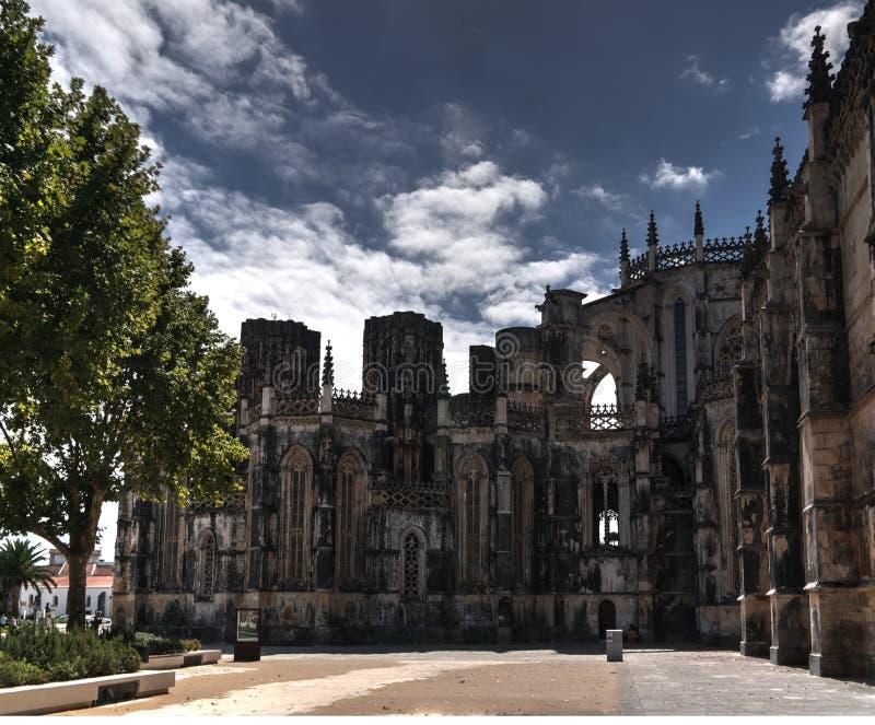 Die unfertige Kapelle des Batalha-Klosters, Portugal lizenzfreie stockfotografie