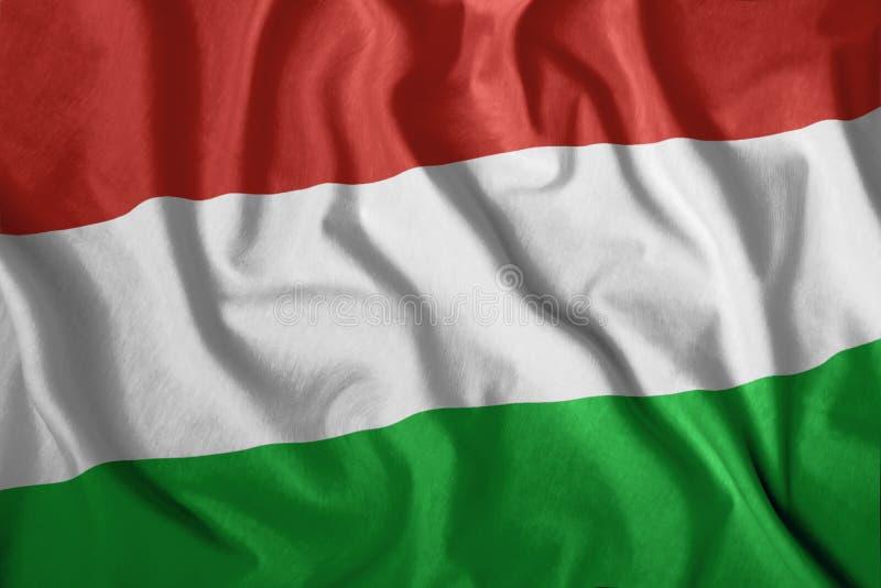 Die ungarische Flagge flattert im Wind Bunt, Staatsflagge von Ungarn patriotismus lizenzfreie abbildung
