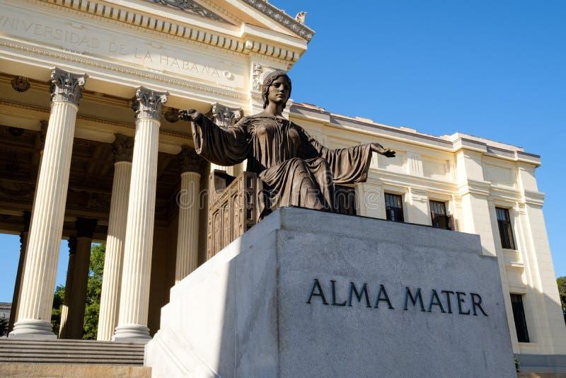 Die Universität von Havana in Kuba lizenzfreie stockfotos