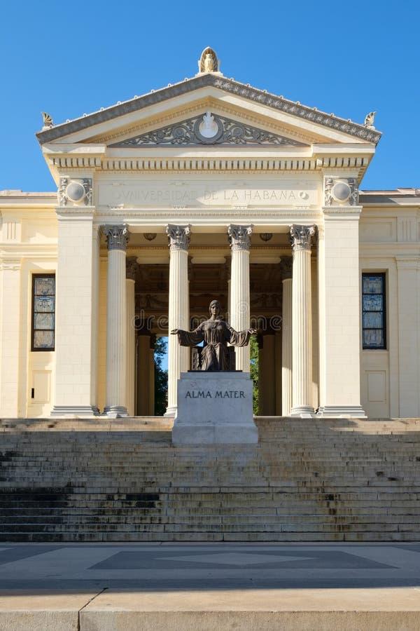 Die Universität von Havana in Kuba lizenzfreie stockfotografie