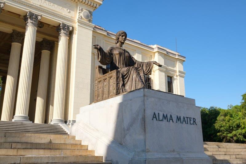Die Universität von Havana in Kuba stockbild