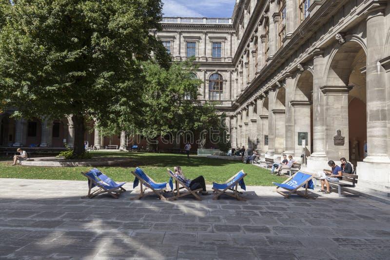 Die Universität von Wien lizenzfreies stockbild