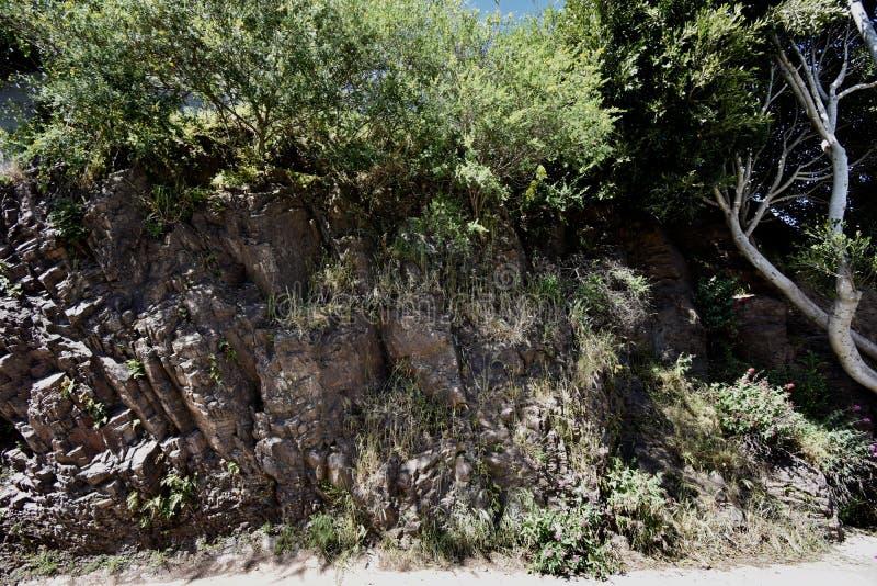 Die unpolierte Seite des slickenside Felsens bei Corona Heights Park, San Francisco lizenzfreies stockfoto