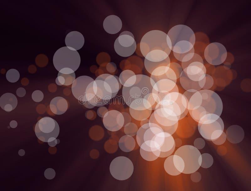 Die unscharfen bunten Lichter am Hintergrund stock abbildung
