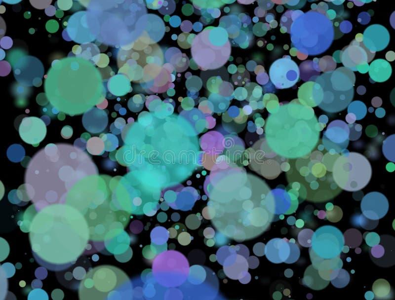 Die unscharfen bunten Lichter am Hintergrund lizenzfreie stockfotos