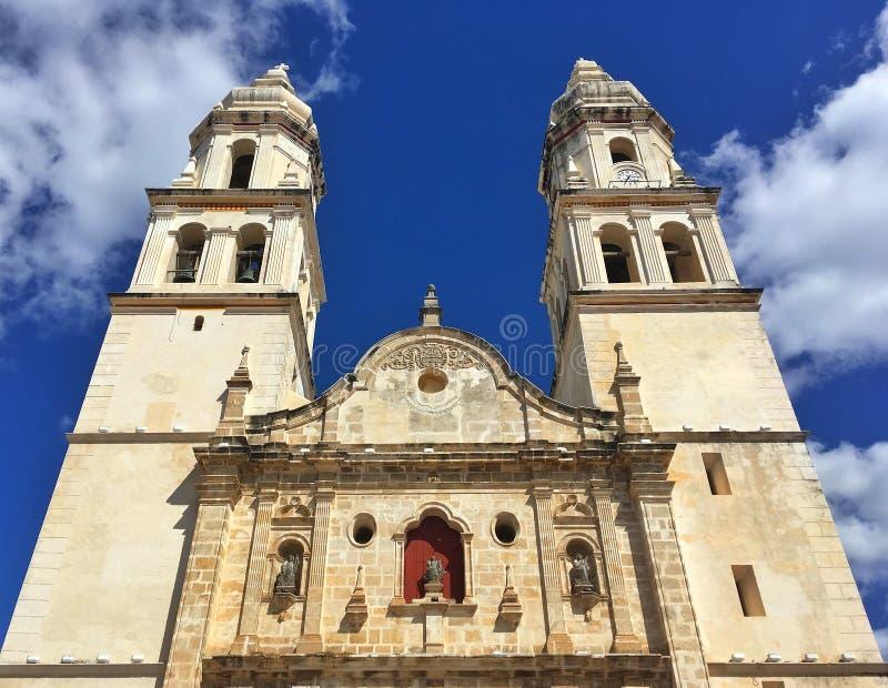 Die unsere Dame der Kathedrale der Unbefleckten Empfängnis in Campeche, lizenzfreie stockbilder