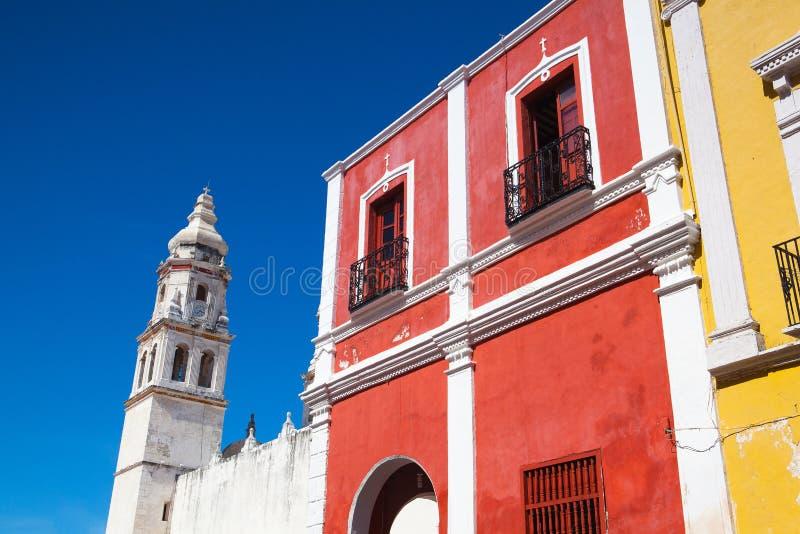 Die unsere Dame der Kathedrale der Unbefleckten Empfängnis Campeche, ich lizenzfreie stockfotos
