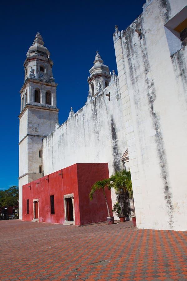 Die unsere Dame der Kathedrale der Unbefleckten Empfängnis Campeche, ich lizenzfreies stockbild