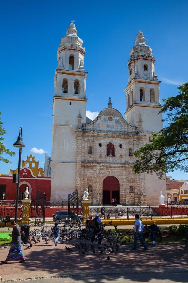 Die unsere Dame der Kathedrale der Unbefleckten Empfängnis Campeche, M stockfoto