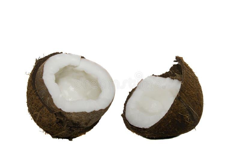 Die unterbrochenen Cocos lizenzfreies stockbild