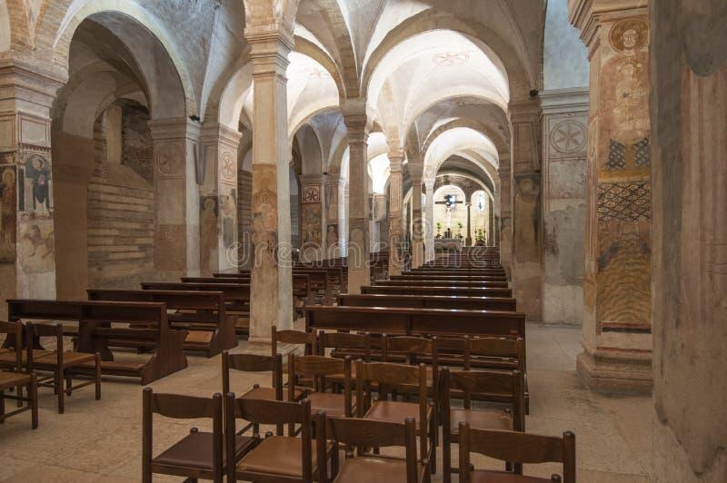 die untere Kirche der Kirche von St.-fermo Verona Venetien Italien Europa lizenzfreie stockbilder