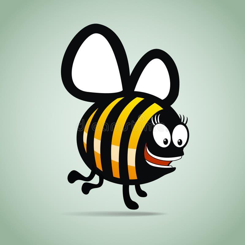 Die unterhaltende Biene lizenzfreie abbildung