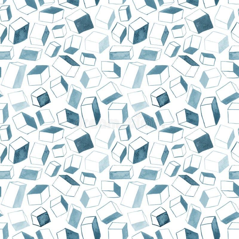 Die ursprüngliche gezeichnete Hand berechnet abstrakten Hintergrundes, nahtlosen Musters vektor abbildung