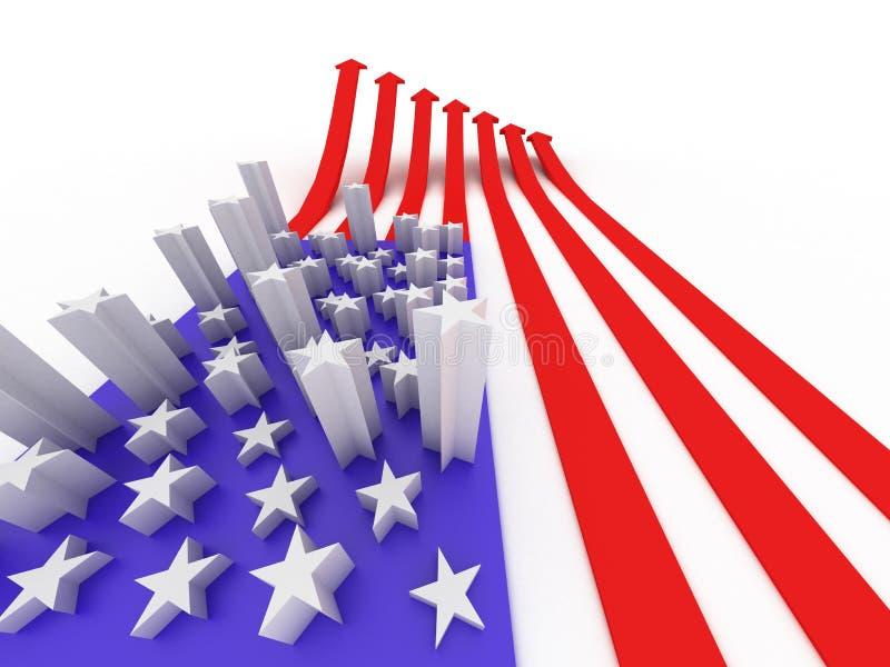 Die USA-Markierungsfahne stockbild