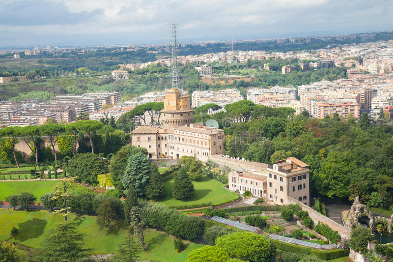 Die Vatikan-Gärten lizenzfreie stockfotografie