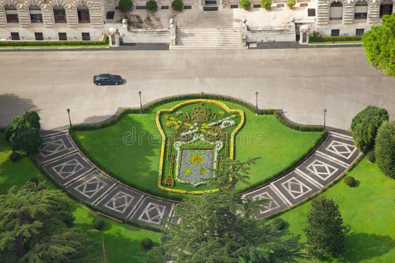 Die Vatikan-Gärten lizenzfreies stockfoto