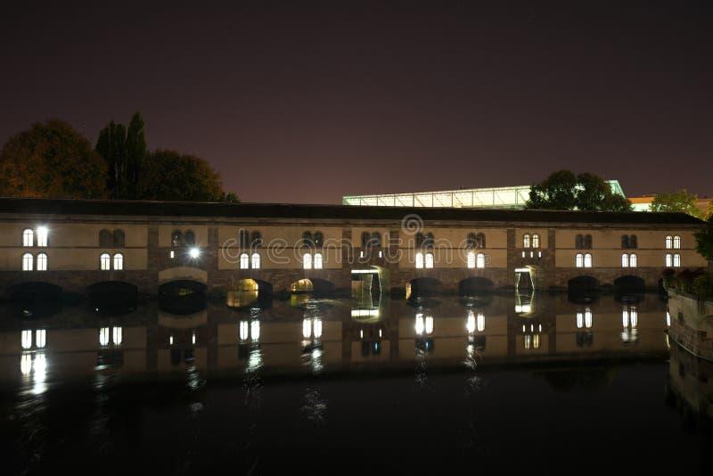 Die Vauban-Verdammung oder der große Verschluss in Straßburg, Frankreich lizenzfreies stockfoto