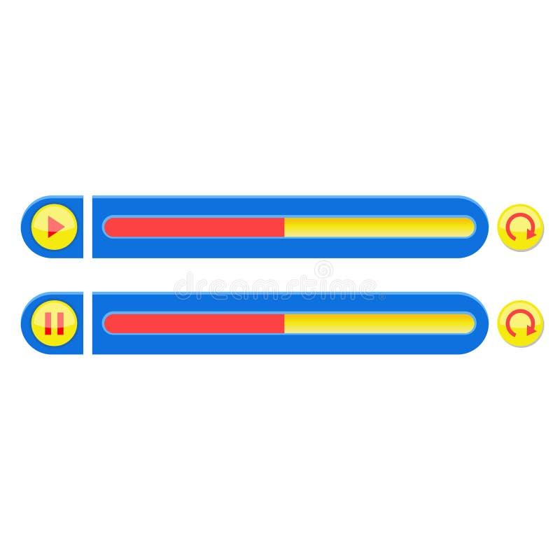 Die Vektorillustration des MP3-Players vektor abbildung