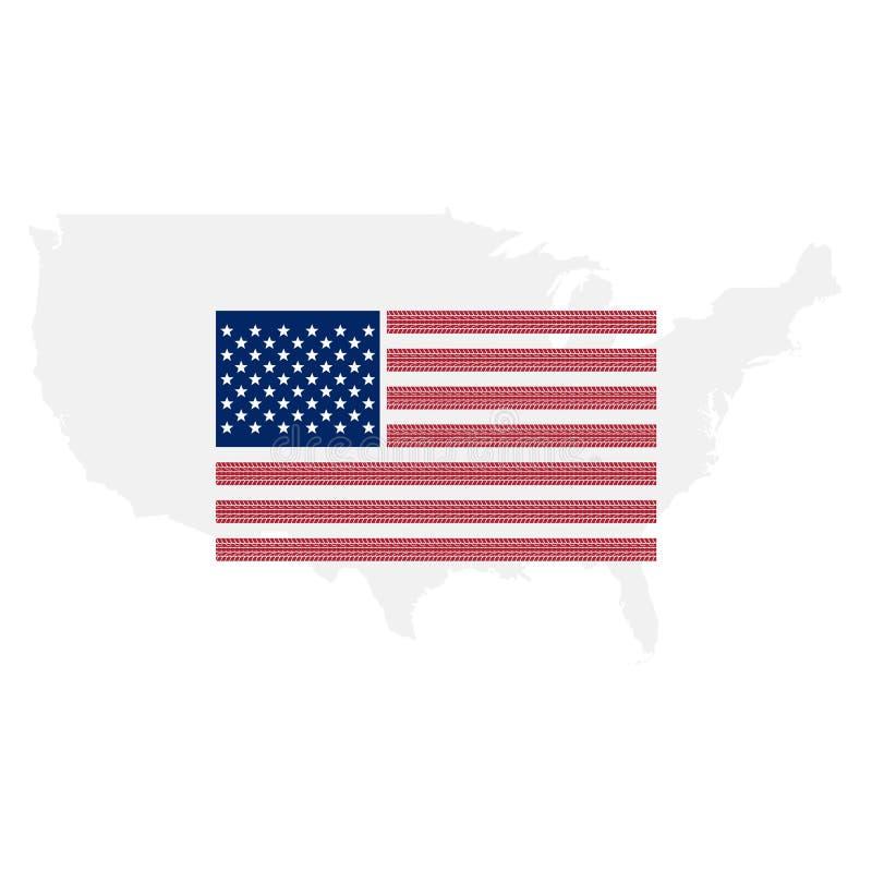 Die Vereinigten Staaten von Amerika kennzeichnen, US-Flaggenzusammenfassung stock abbildung