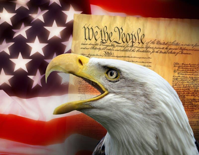 Die Vereinigten Staaten von Amerika - patriotische Symbole lizenzfreie stockfotos
