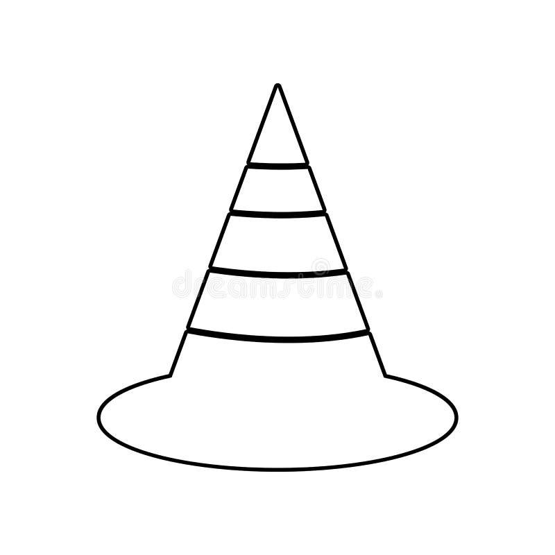 Die Verkehrskegelikone Element von Constractions-Werkzeugen f?r bewegliches Konzept und Netz Appsikone Entwurf, d?nne Linie Ikone lizenzfreie abbildung